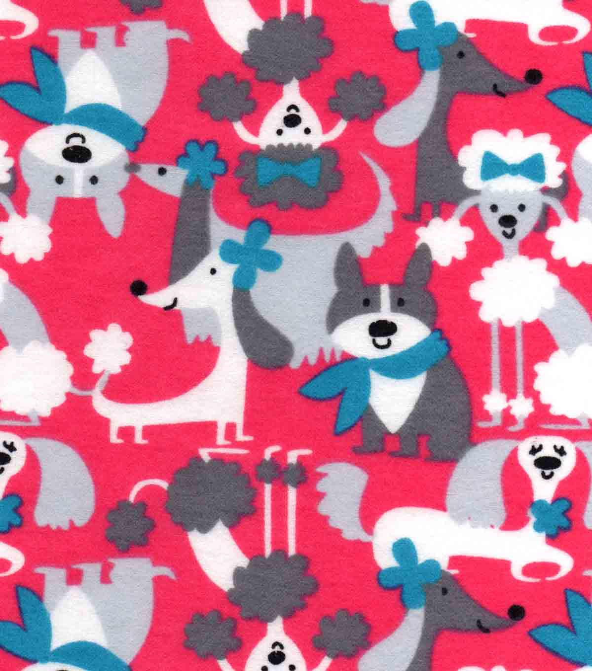 Snuggle Flannel Fabric 42\u0027\u0027-Preppy Pups
