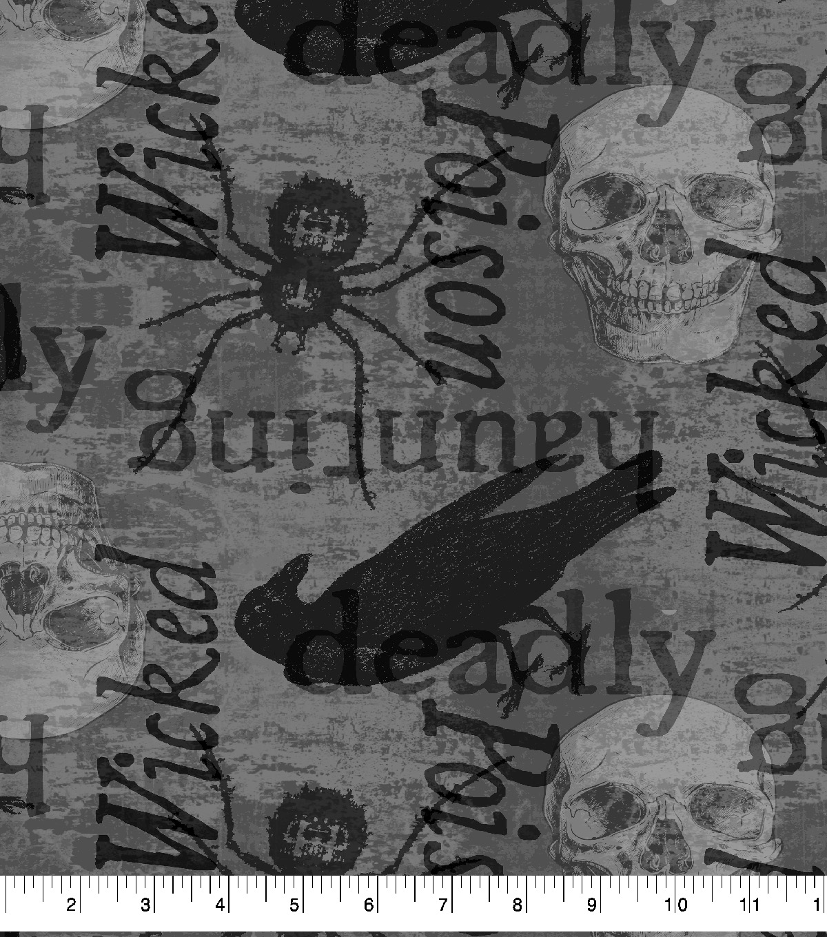 Halloween Cotton Fabric-Spooky Spiders
