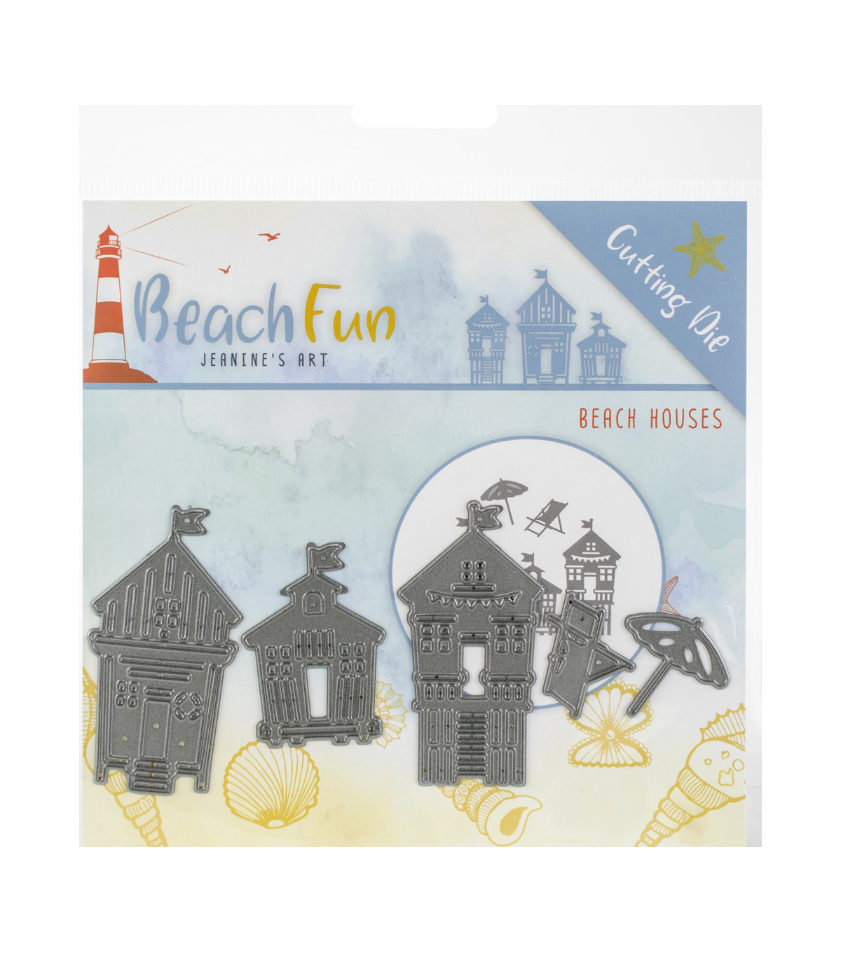 Find It Trading Jeanine\u0027s Art Beach Fun Die-Beach Houses