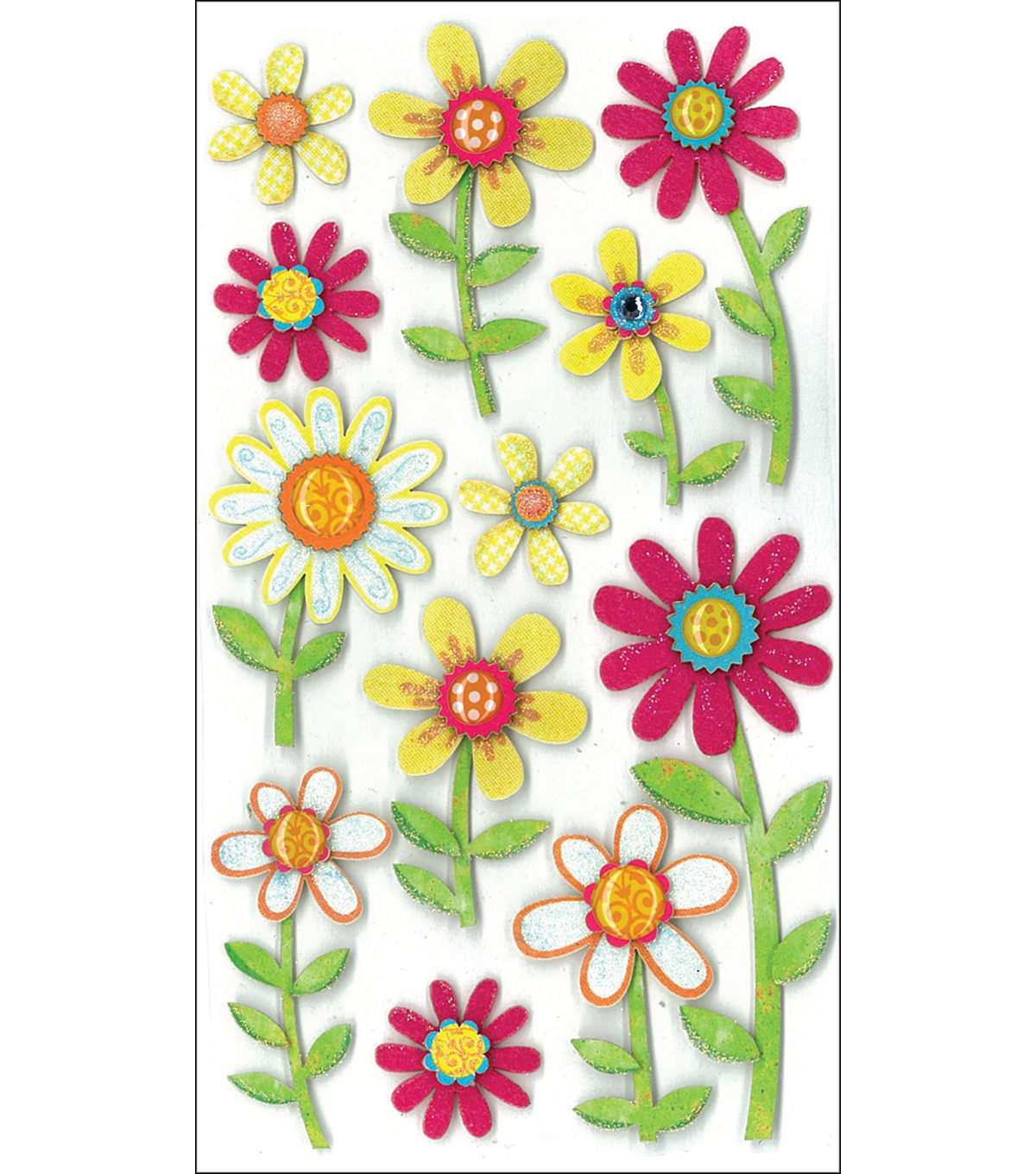 Jolee\u0027s Boutique Le Grande Dimensional Stickers-Large Daisy Repeats