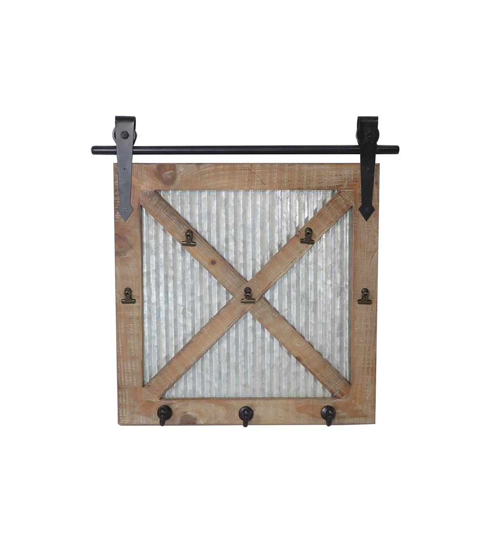 Superieur Hudson 43 Wood U0026 Metal Barn Door Wall Decor With Hooks