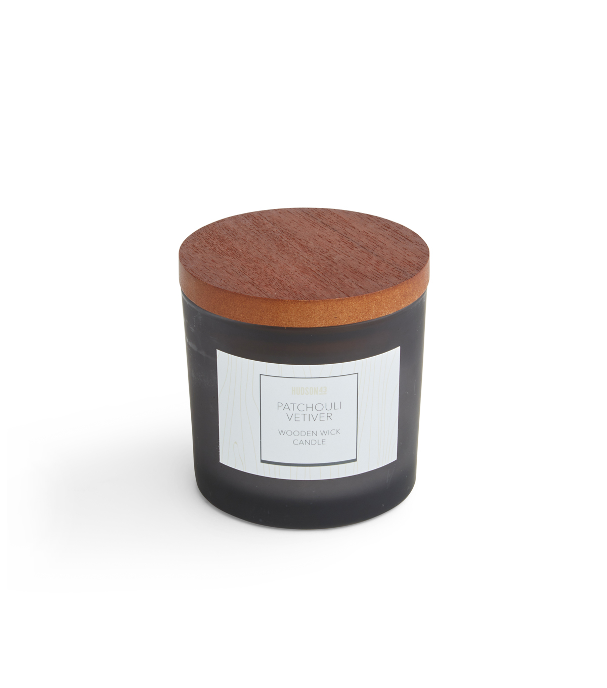 Haven St. 5oz Wooden Wick Jar Candle-Patchouli Vetiver