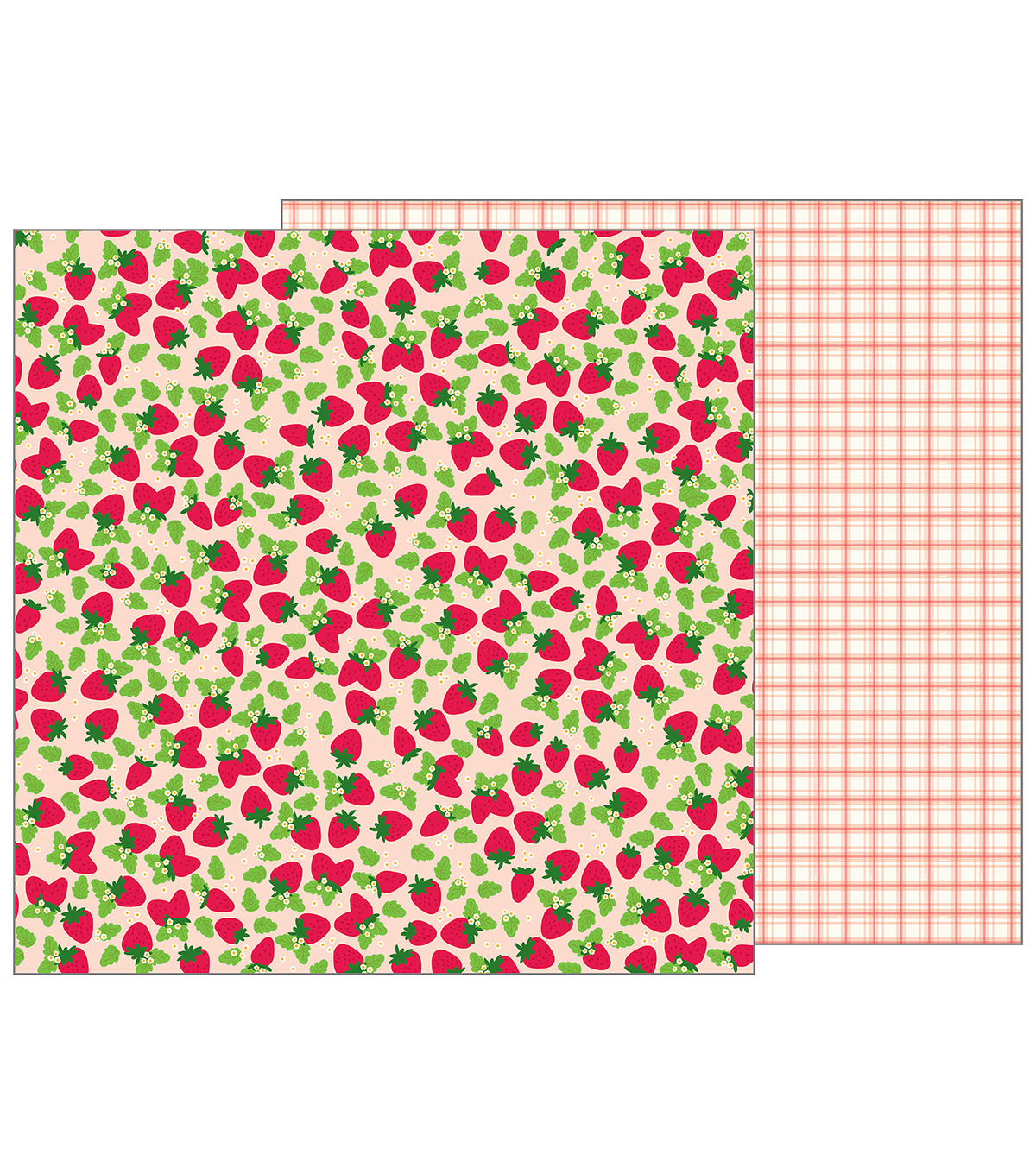 Pebbles Jen Hadfield Patio Party Double-Sided Cardstock-Fresh Berries
