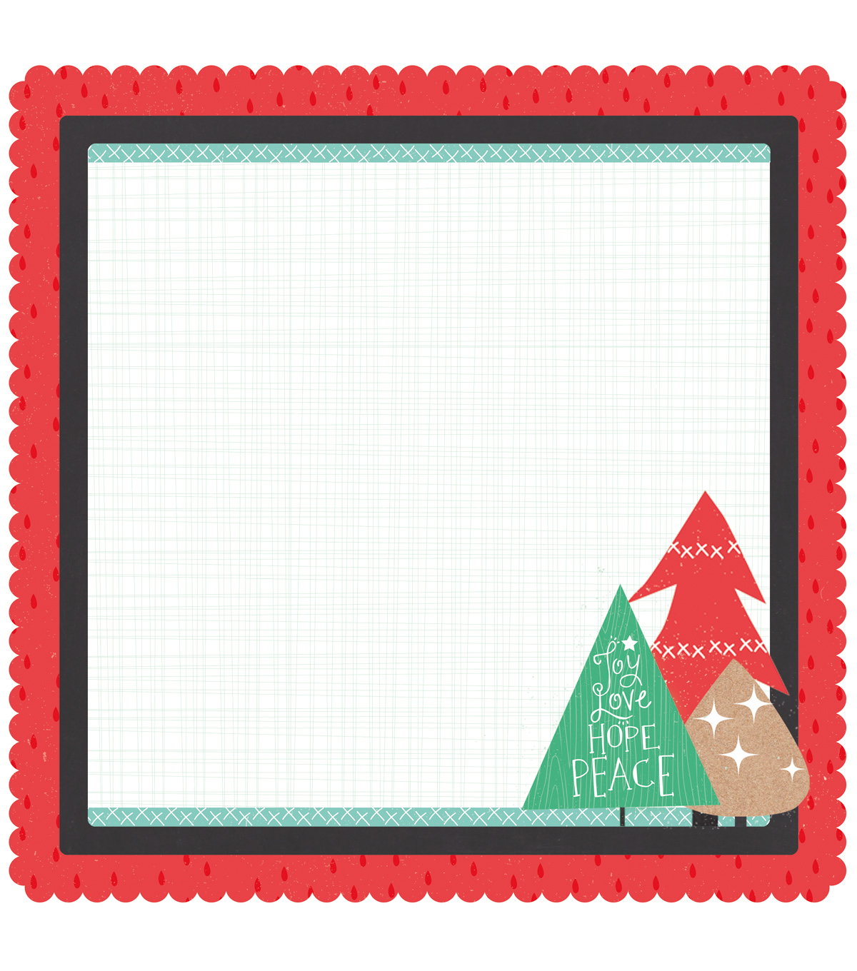 Kaisercraft Holly Jolly Cardstock Die-Cut-Pine