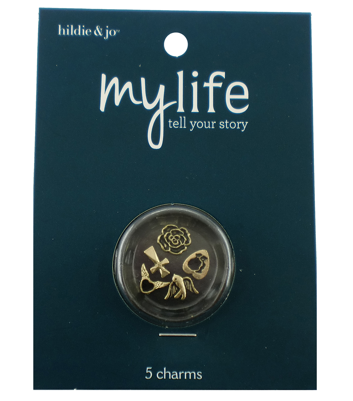 hildie & jo My Life 5 Pack Cross Antique Gold Locket Charms