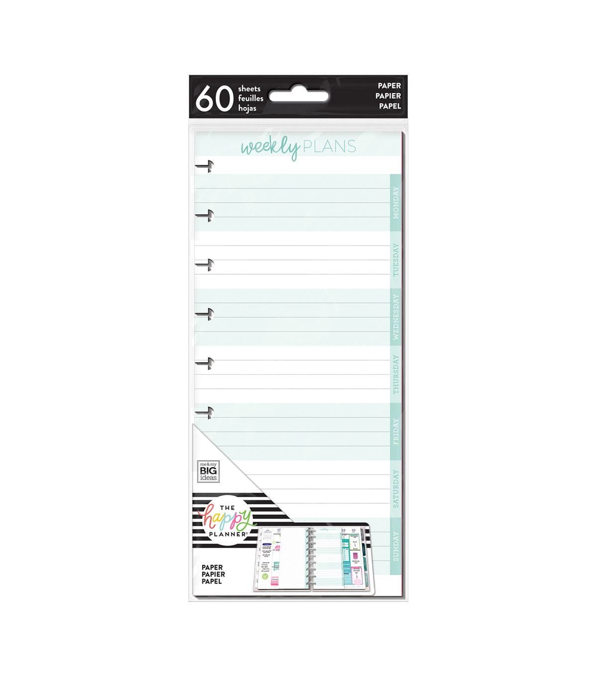 The Happy Planner 60 pk Weekly Plans Half Sheets