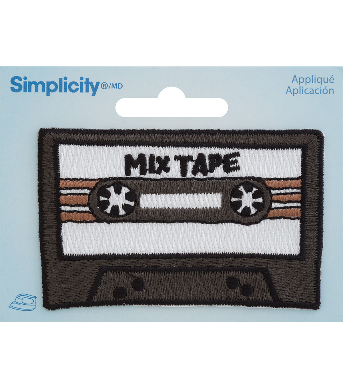 Simplicity Embroidered Iron-On Applique-Cassette Tape