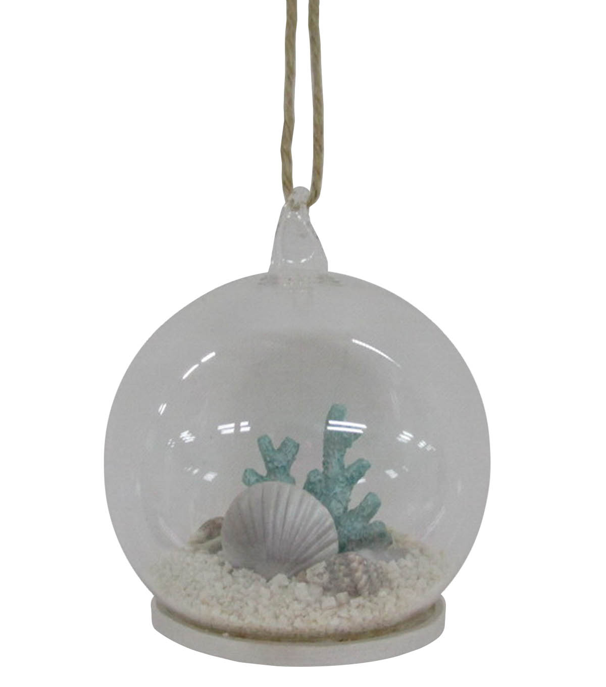 Maker\u0027s Holiday Christmas Beach Snow Globe Ornament