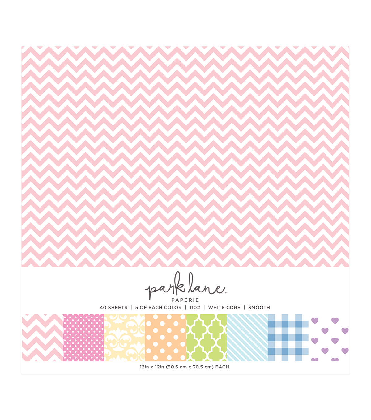 Park Lane 40 pk 12\u0027\u0027x12\u0027\u0027 Value Papers-Pattern Pastel