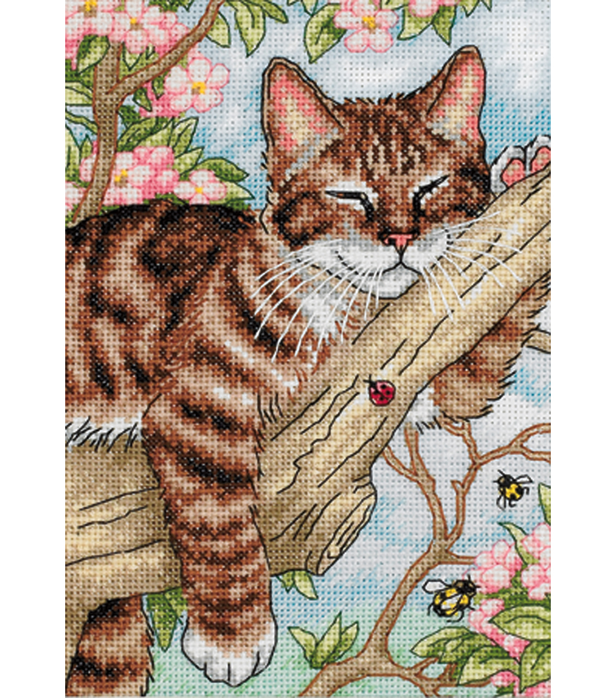 Gold Collection Petite Napping Kitten Counted Cross Stitch Kit