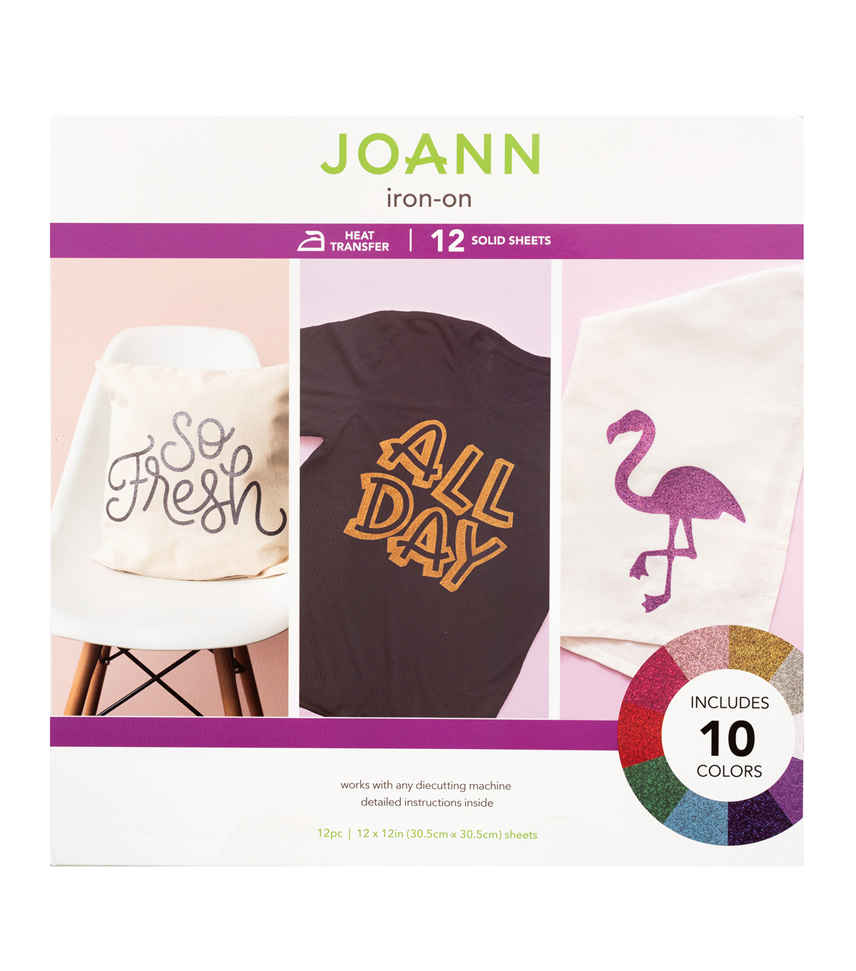 Joann Iron-On Sheets-Glitter