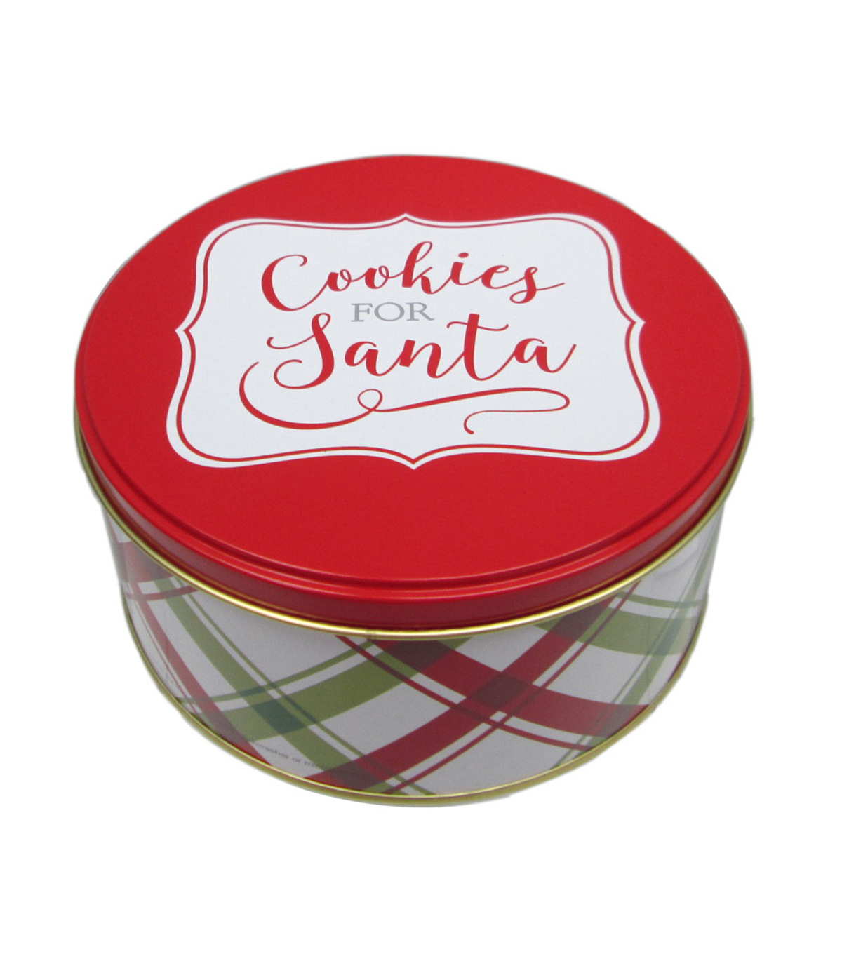 Maker\u0027s Holiday Small Round Cookie Tin-Cookies for Santa