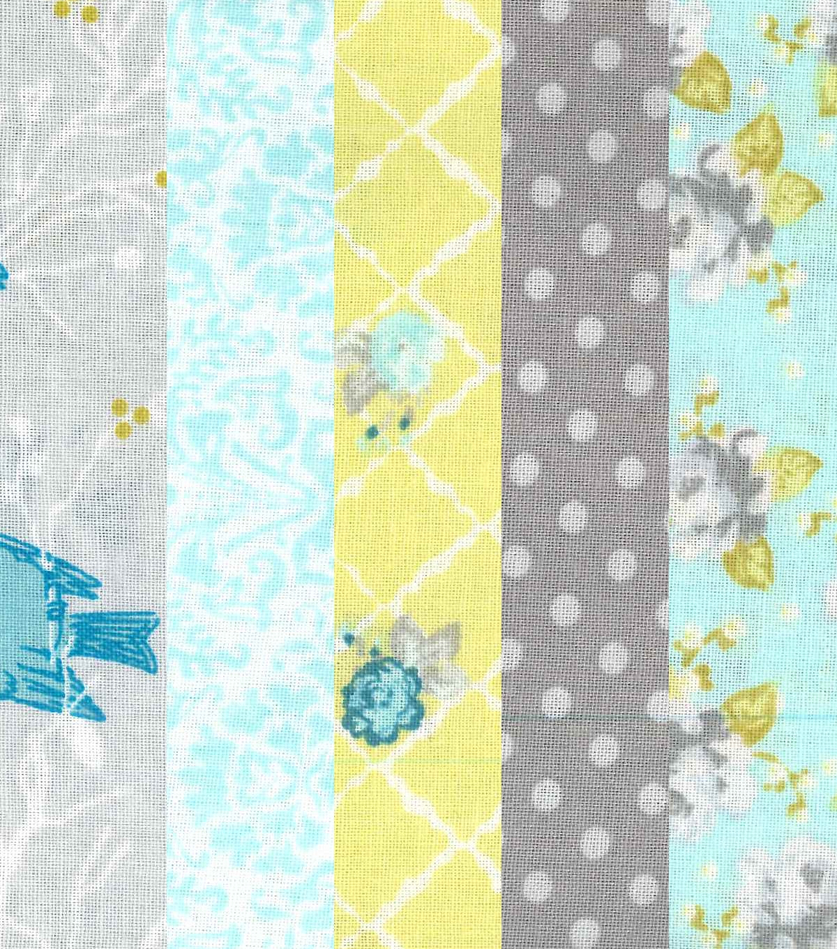 Fat Quarter Light Sky Blue Solid Cotton Quilting Sewing Fabric