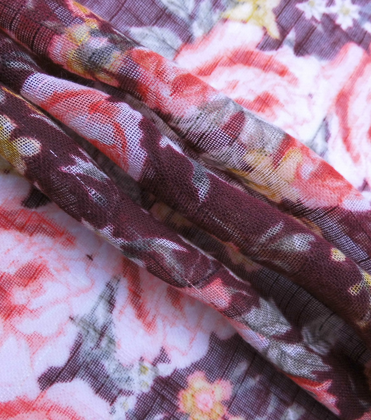 Silky Gauze Fabric 56\u0022-Bouquet