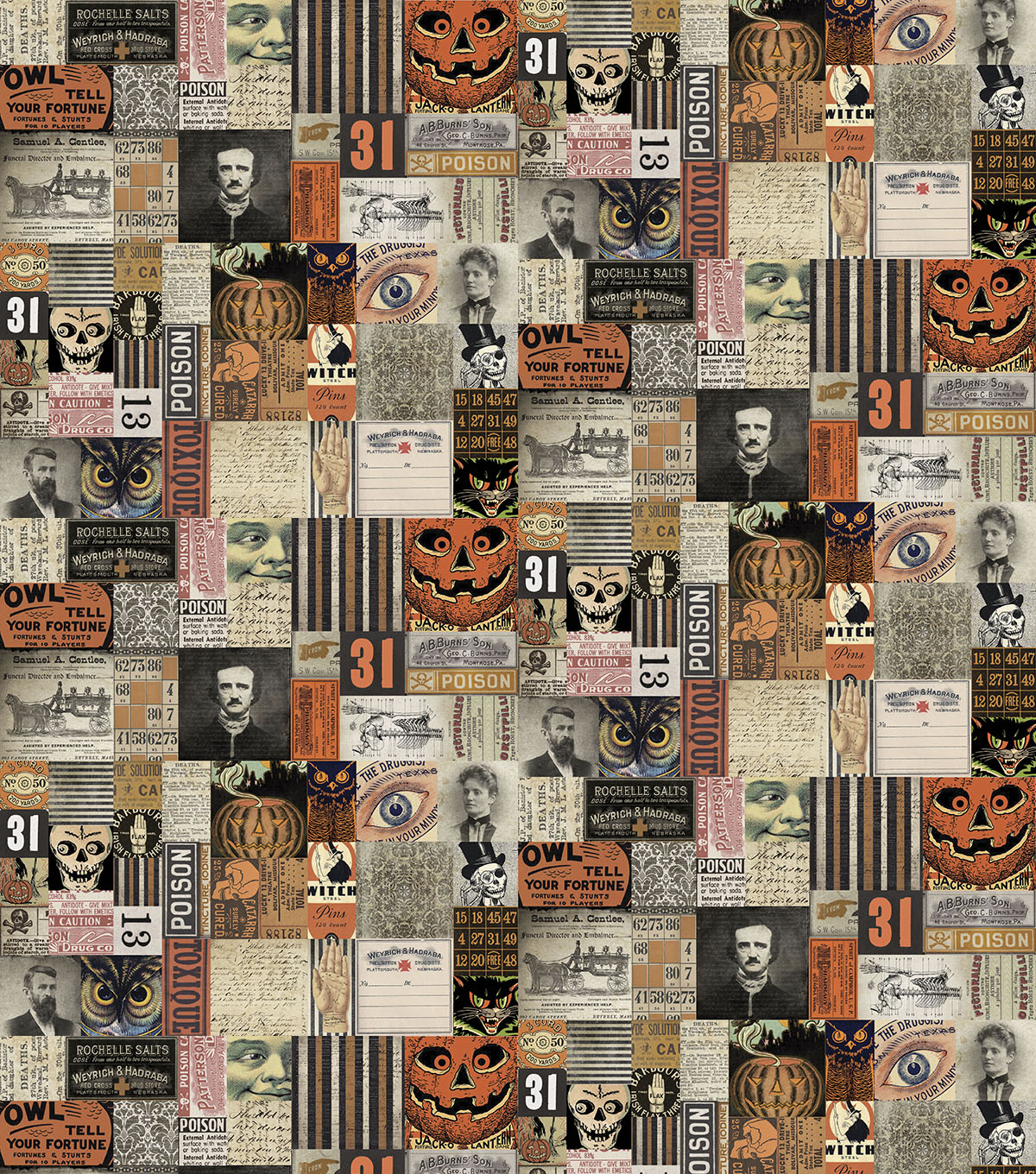 Halloween Cotton Prints Fabric 45\u0022-Materialize 31st