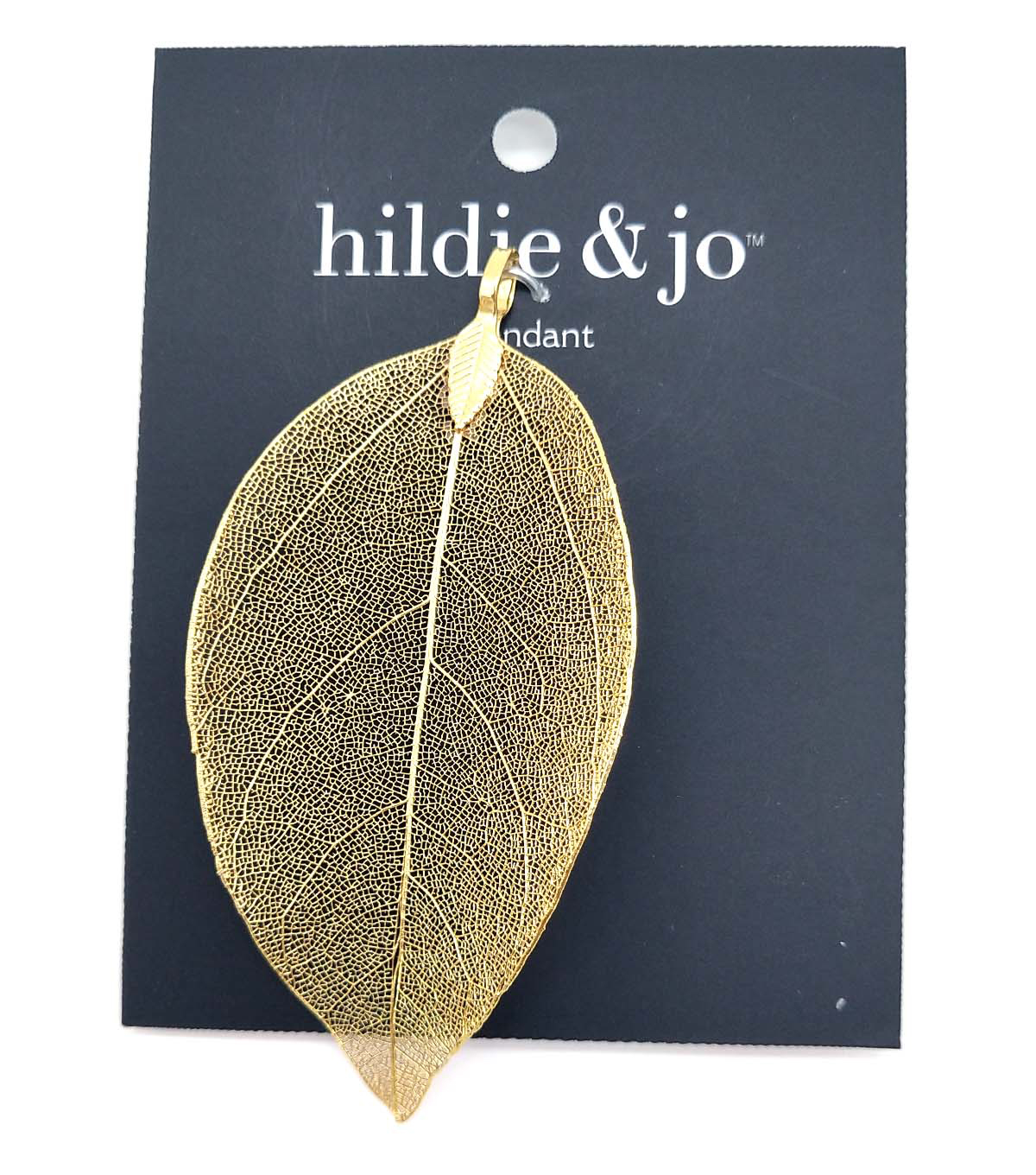 hildie & jo Stone Gold Leaf Pendant