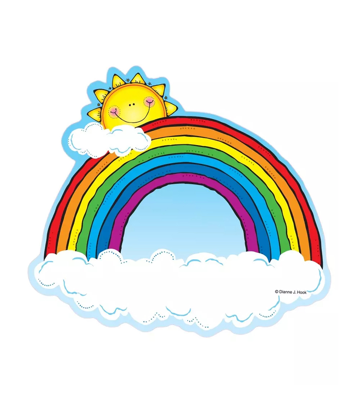 Cut Outs Rainbows 36/pk, Set of 6 Packs