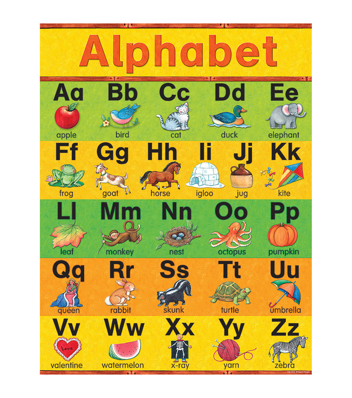 Teacher Created Resources Alphabet Chart 6pk