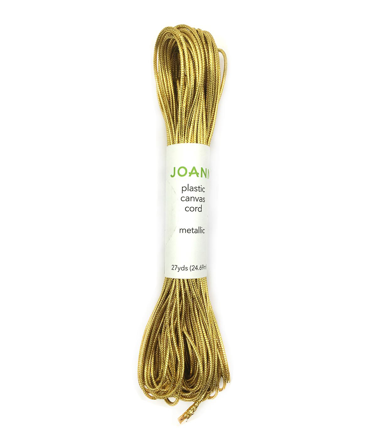 Joann Plastic Metallic Canvas Cord-Gold