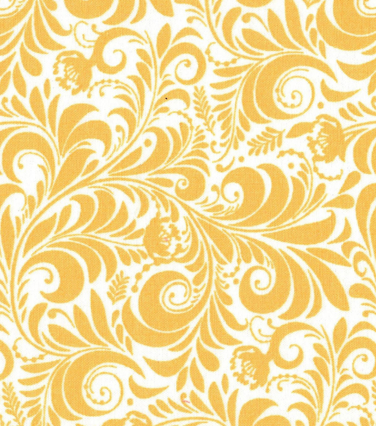 Quilter\u0027s Showcase Fabric -Yellow Floral Scroll
