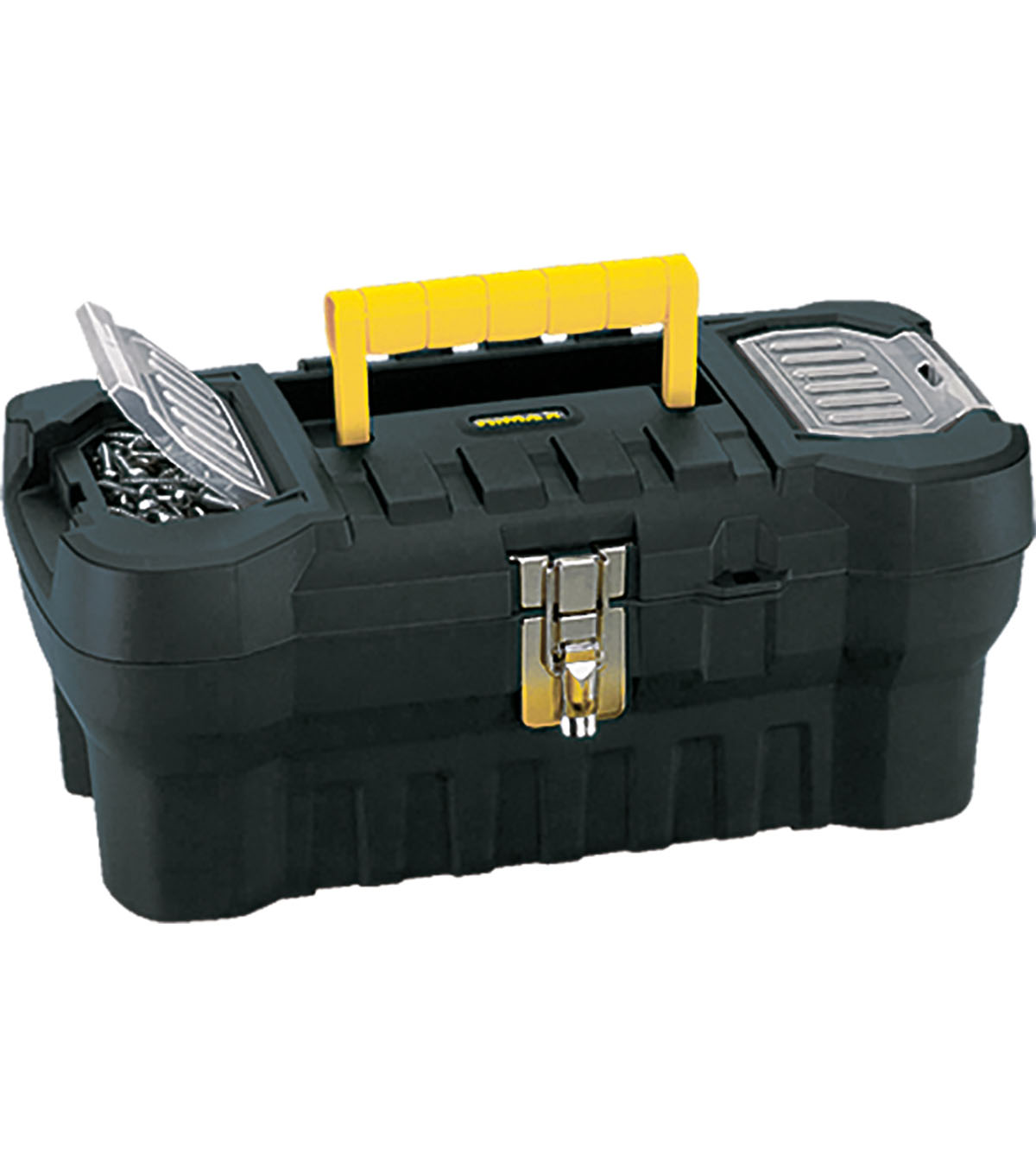 Rimax 16\u0027\u0027x7.25\u0027\u0027x8\u0027\u0027 Heavy Duty Toolbox-Black & Yellow