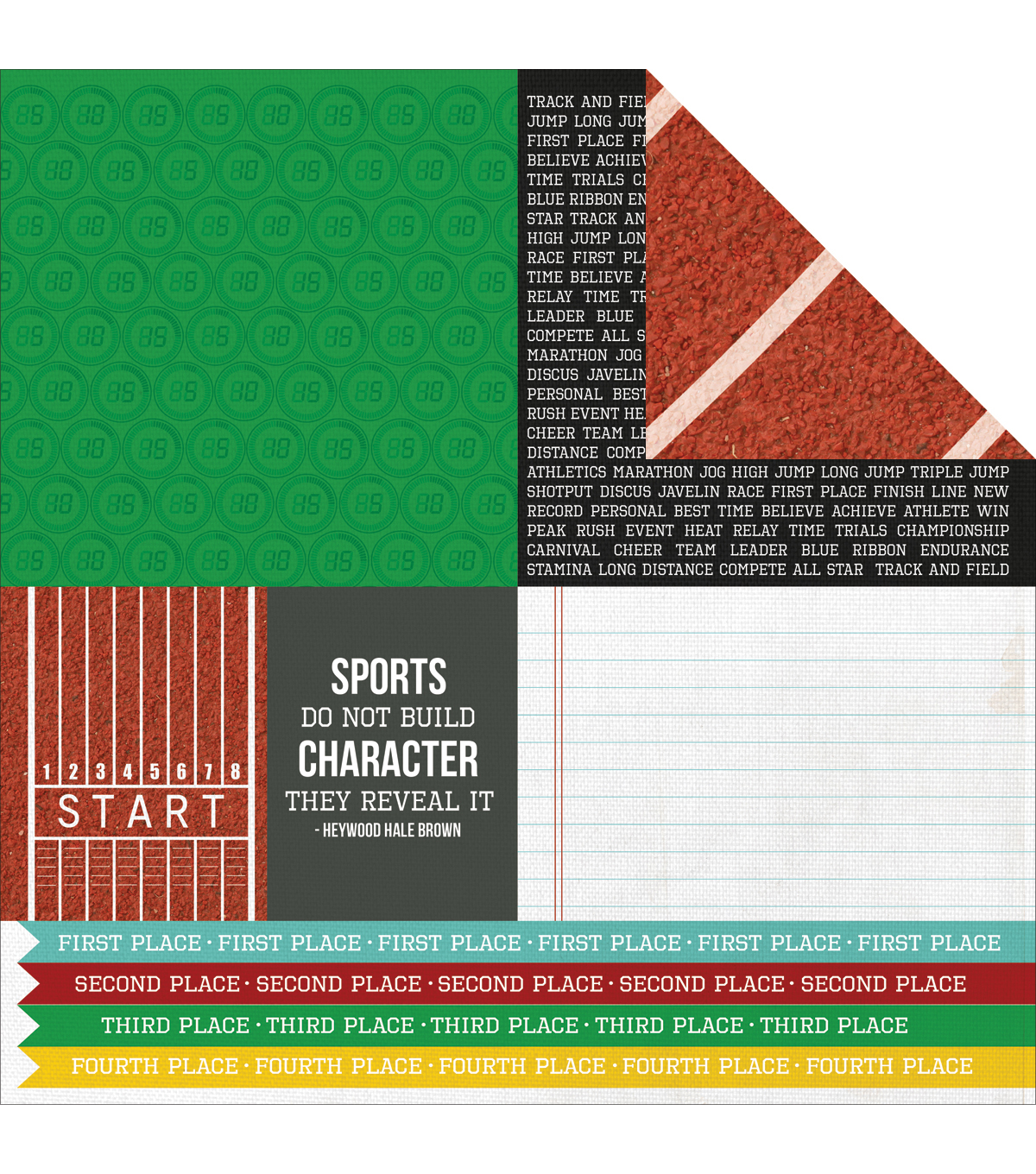Kaisercraft Game On Champion Double-Sided Cardstock