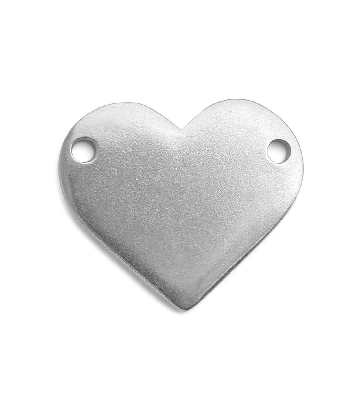 ImpressArt Premium Stamping Blanks 1\u0022 x 7/8\u0022 Heart with Holes Pewter