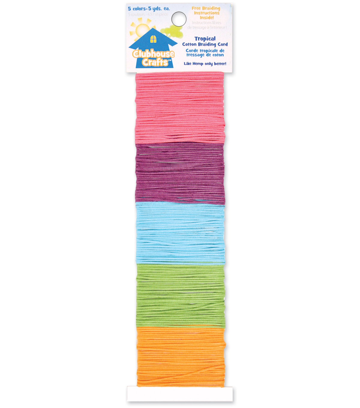 Sulyn Clubhouse Crafts-Tropical Cotton Braiding Cord-5 Colors