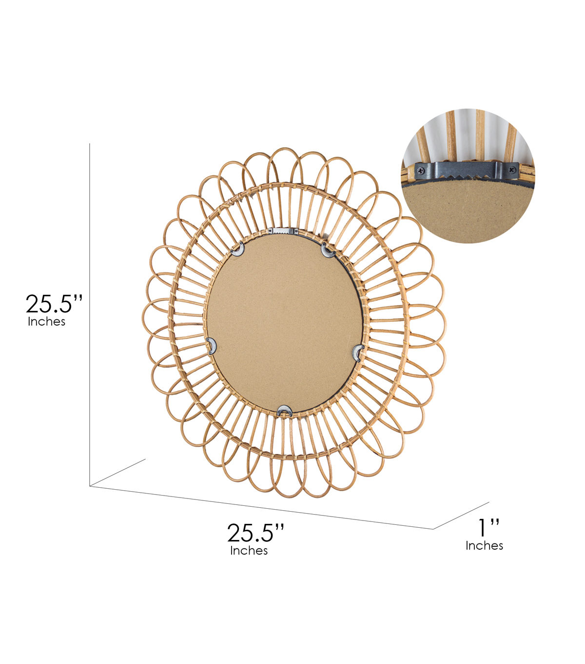 """Bamboo Weave Accent Wall: Furniture Finds 25.5"""" Woven Rattan Sunburst Accent Wall"""
