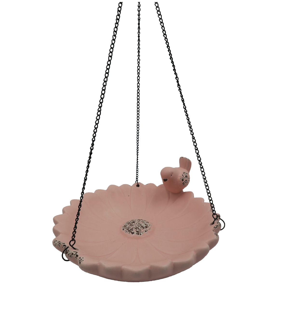 In the Garden Ceramic Bird Feeder-Pink