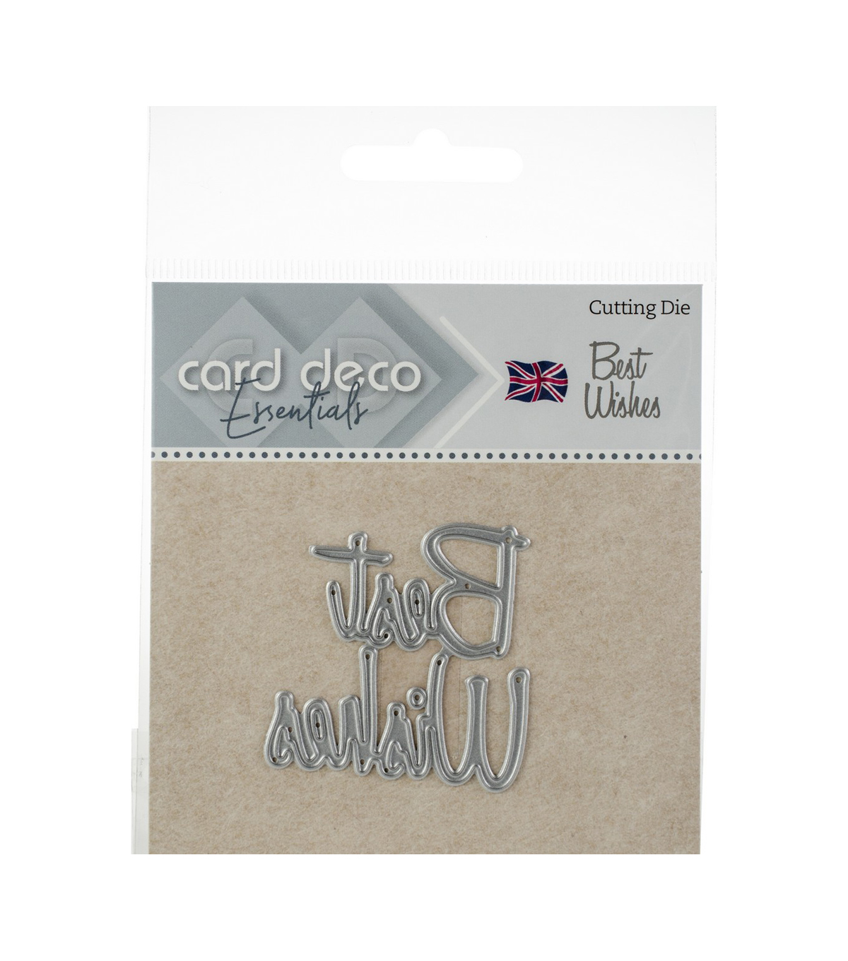 Find It Trading Card Deco Essentials Cutting Die-Best Wishes