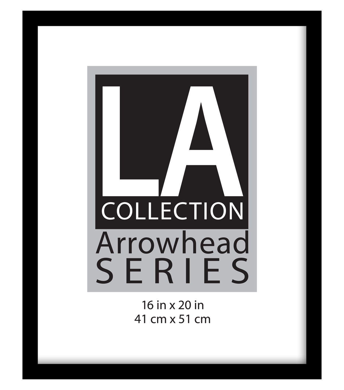 LA Collection Arrowhead Series Plastic Flat Top Frame 16\u0027\u0027x20\u0027\u0027-Black