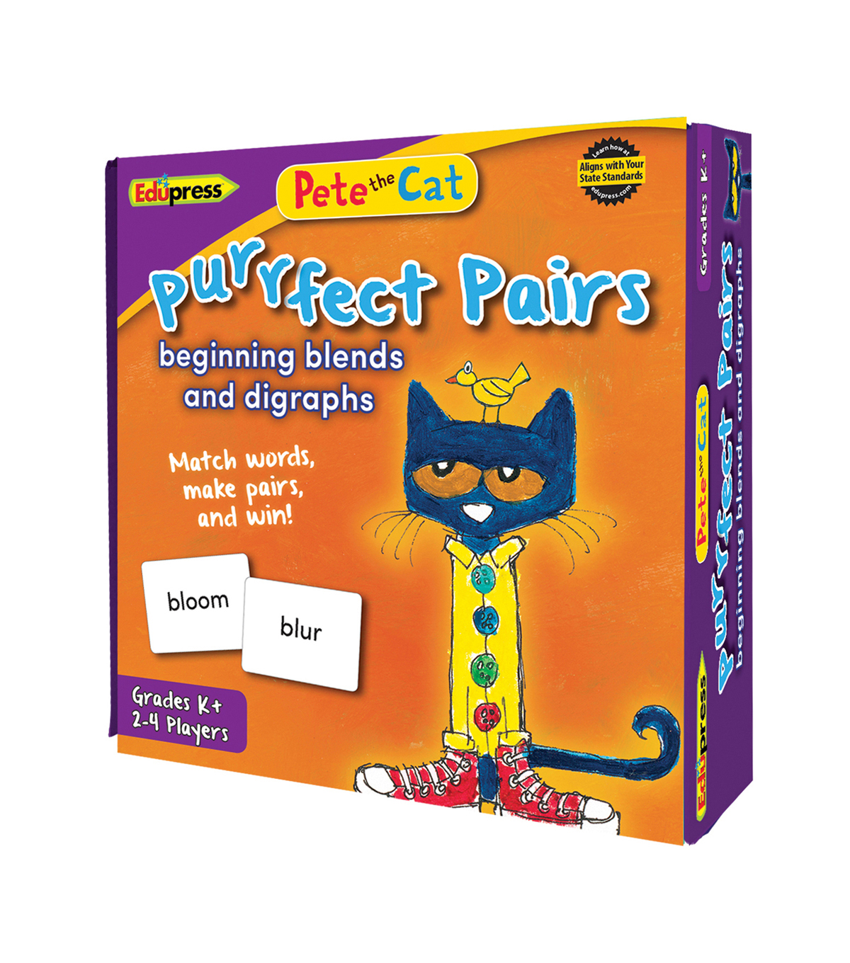 Pete the Cat Purrfect Pairs Game: Beginning Blends & Digraghs, Pack of 2