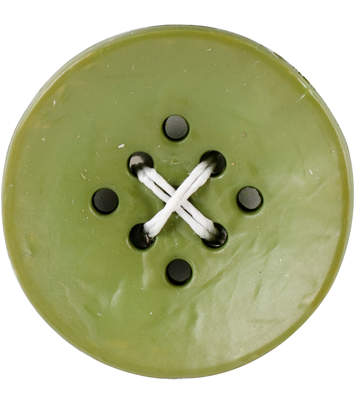 Crafting with Buttons 2 pk Small 9 Hole Buttons-Green