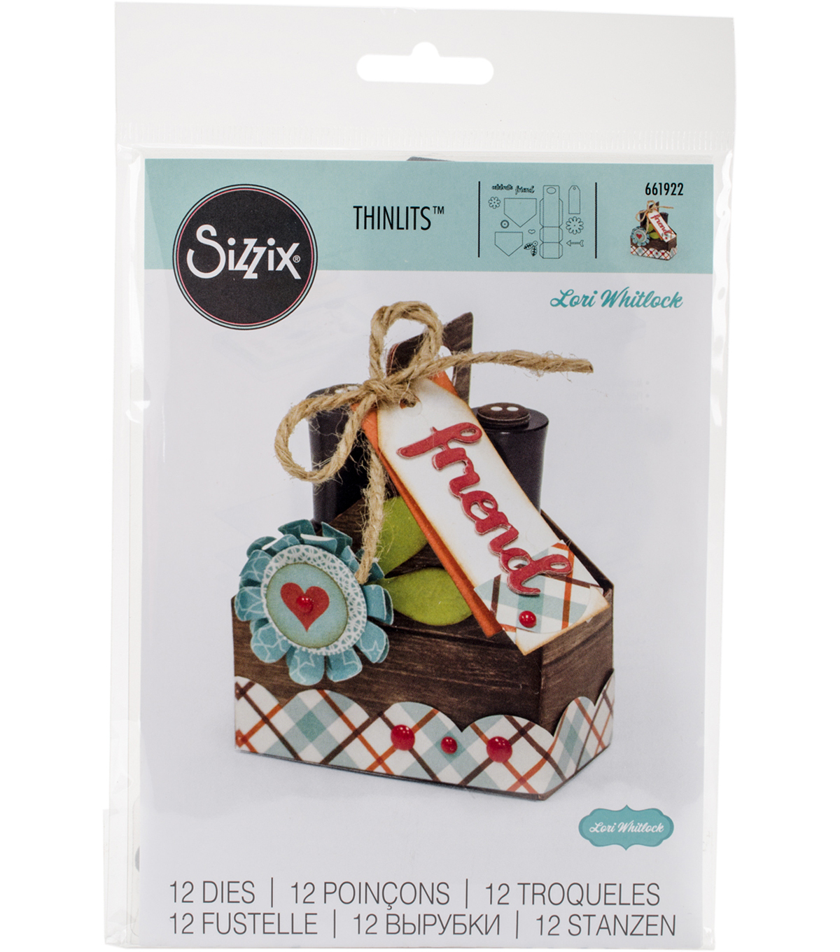 Sizzix Thinlits Die By Lori Whitlock-Double Tote