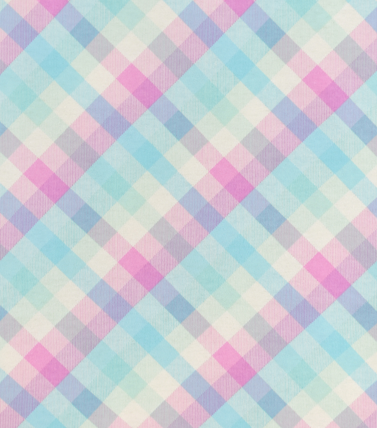 Snuggle Flannel Fabric-Multi Pastel Buffalo Checks