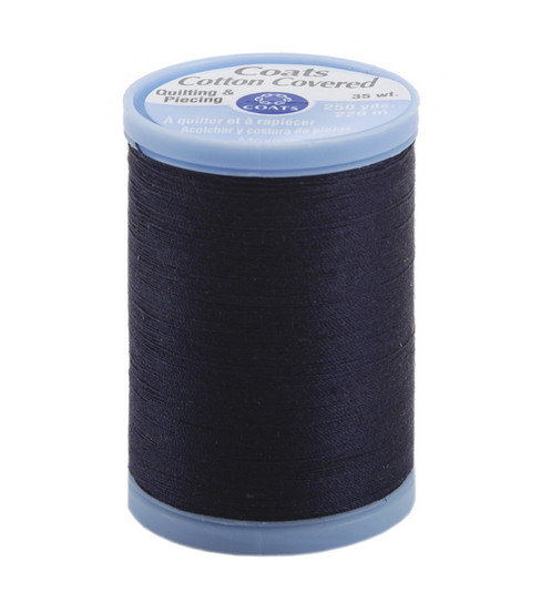 Coats & Clark Cotton Covered Quilting & Piecing Thread 250 Yards , 4900 Navy