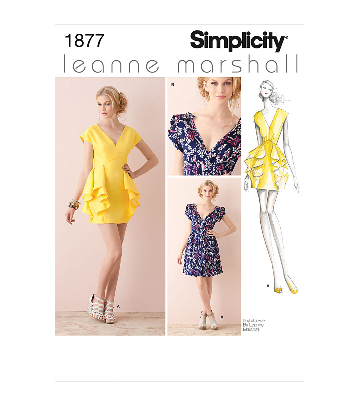 Simplicity Patterns Us1877D5-Simplicity Misses Special Occasion-4-6-8-10-12