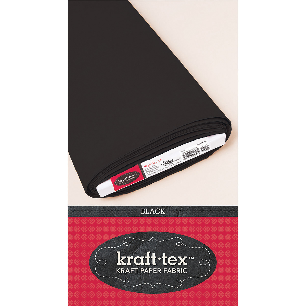 Black -kraft-tex Paper Bolt, Black