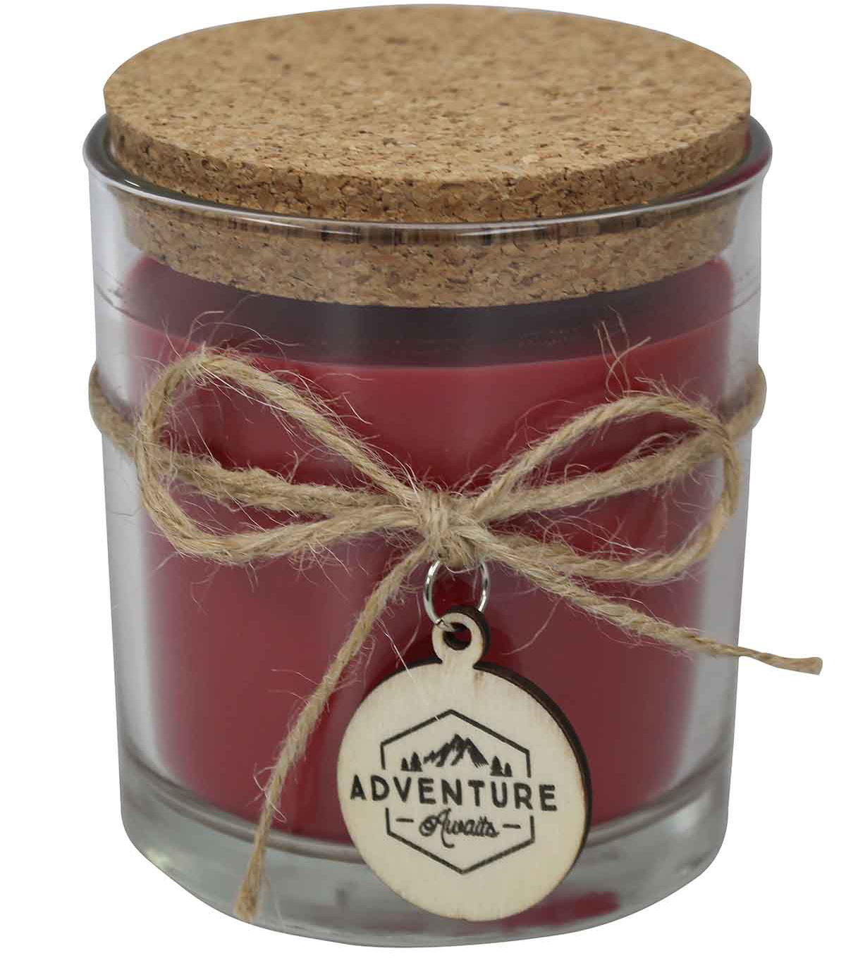 Camp Ann 3.12\u0027\u0027x3.75\u0027\u0027 Apple Vanilla Candle with Charm & Cork Lid-Red