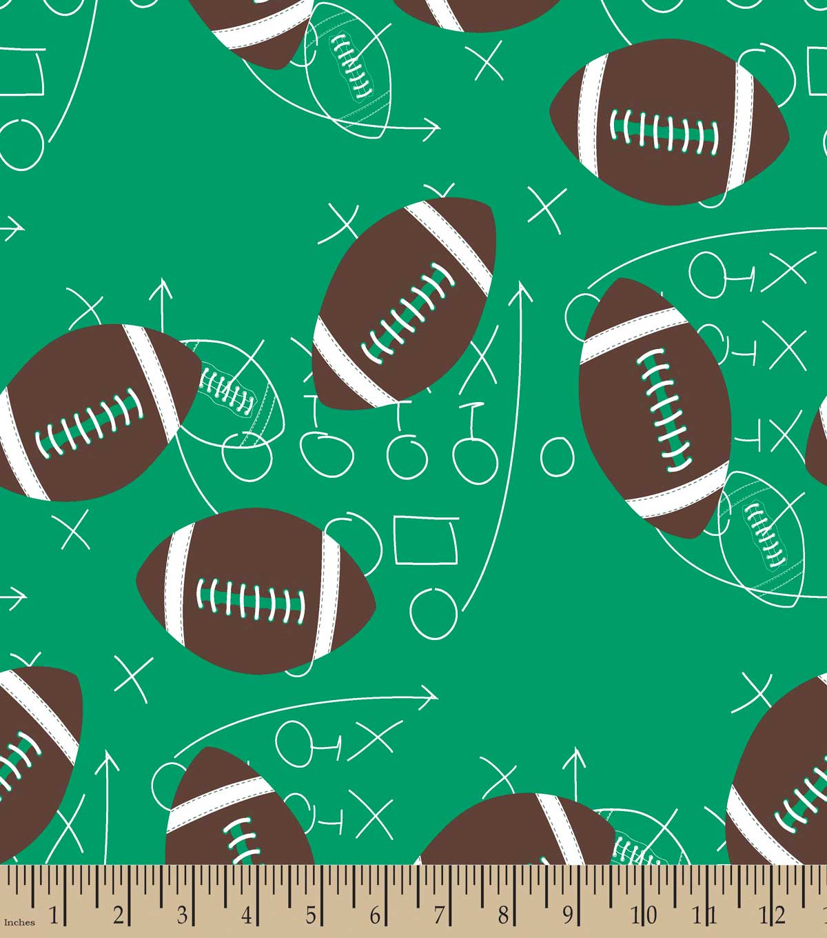 Football Scrimage Print Fabric