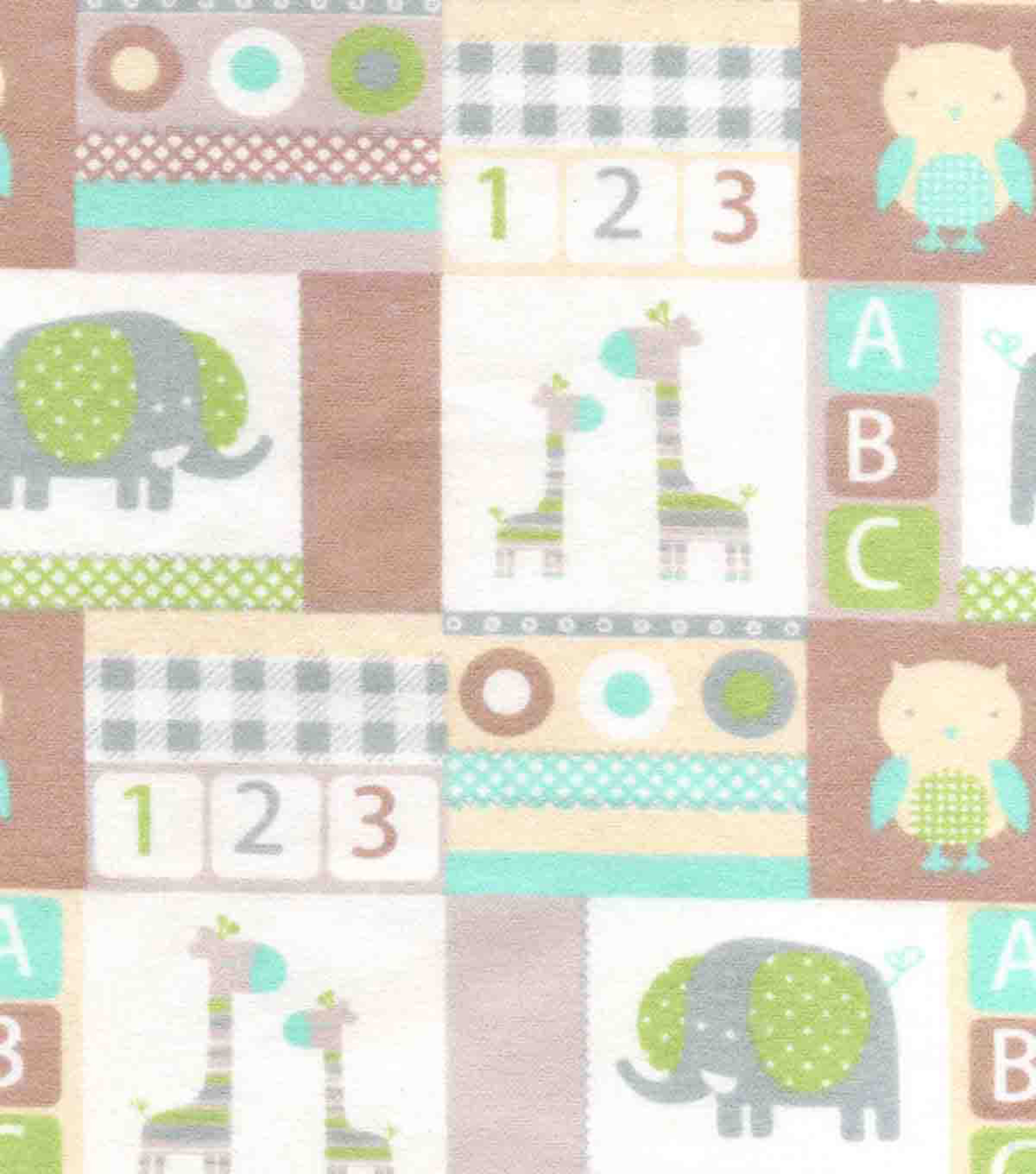 Snuggle Flannel Fabric -Baby Patchwork