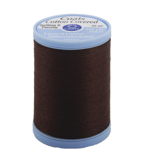 Coats & Clark Cotton Covered Quilting & Piecing Thread 250 Yards , 8960 Chona Brown