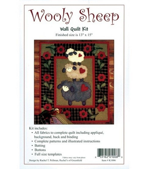 720b3850865d Wooly Sheep Wall Quilt Kit-13 u0022X15 u0022