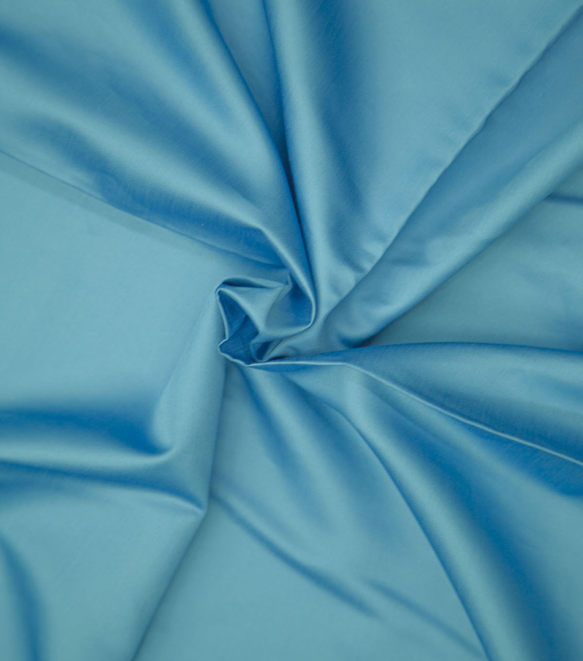 Supima Sateen Cotton Fabric-Solids, Bright Blue