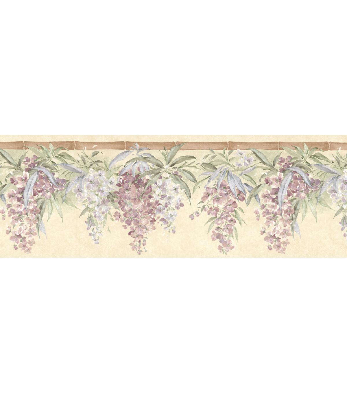 Bamboo Floral Hang Wallpaper Border Multicolor Joann