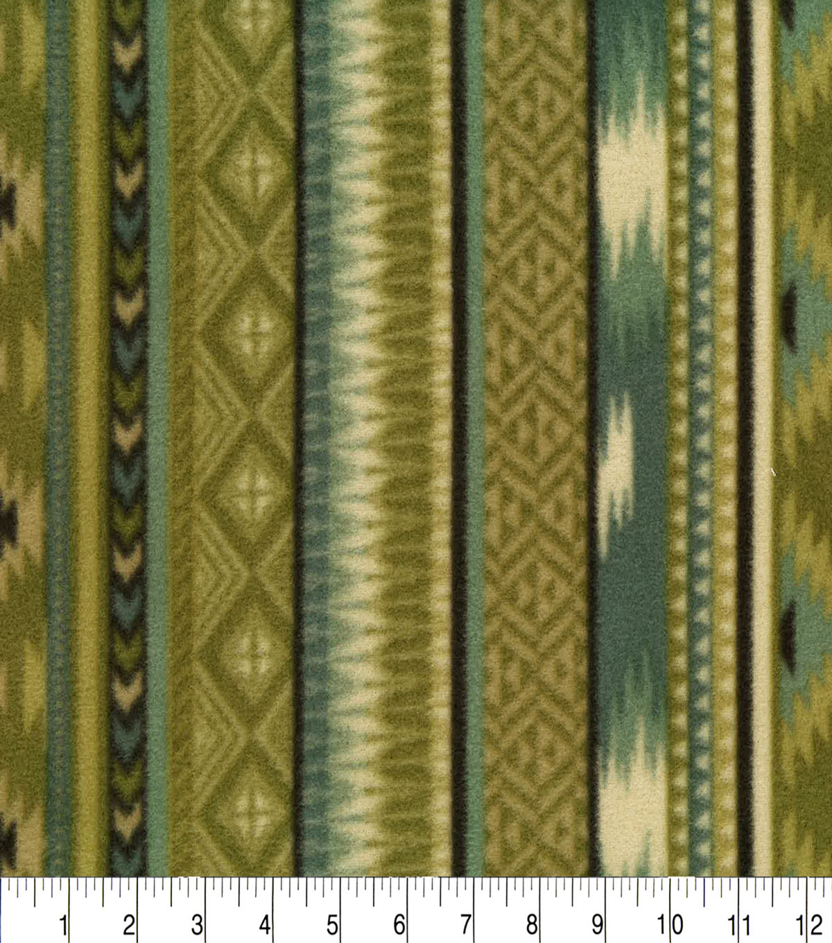 Anti-Pill Fleece Fabric 59\u0022-Into The Wild Aztec Stripe