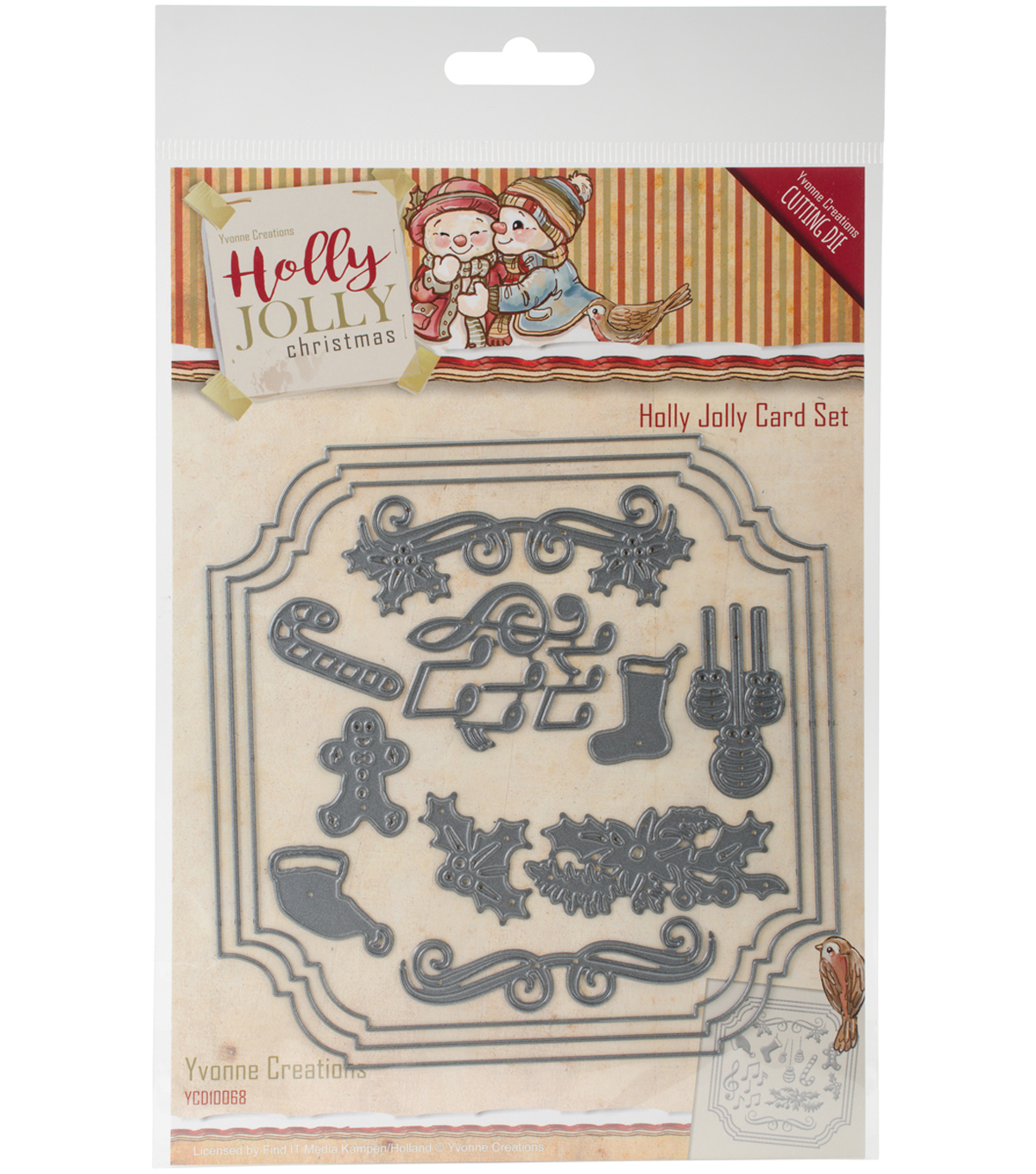 Find It Trading Yvonne Creations Holly Jolly Die-Card Set