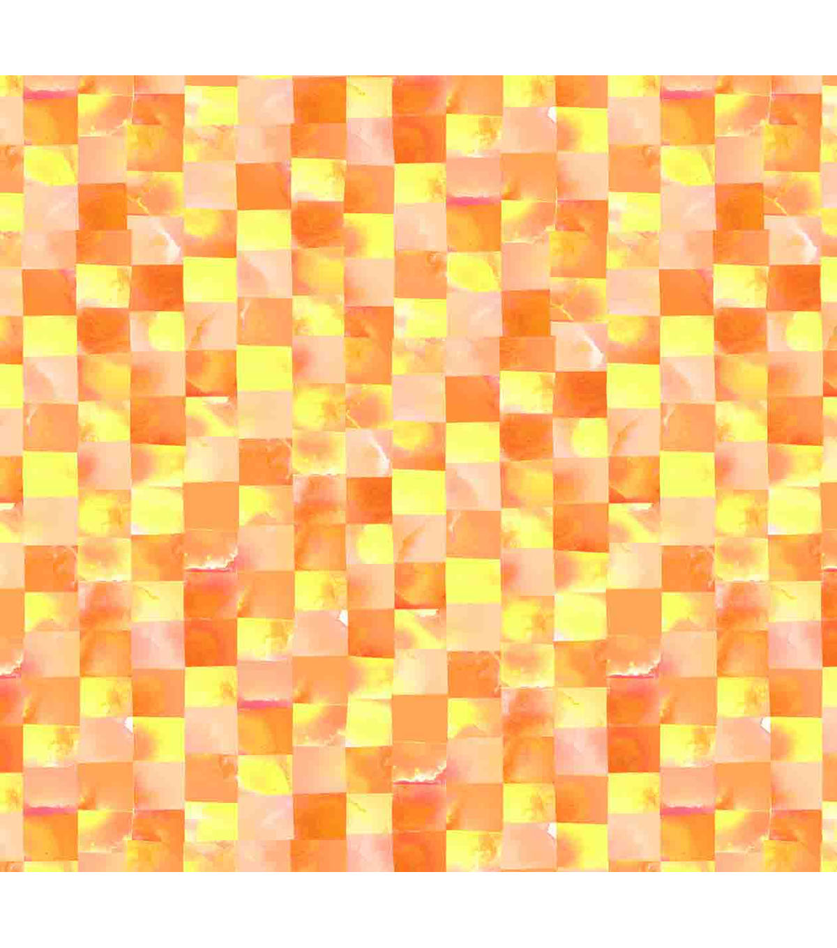 Keepsake Calico Cotton Fabric -Orange & Yellow Mosaic