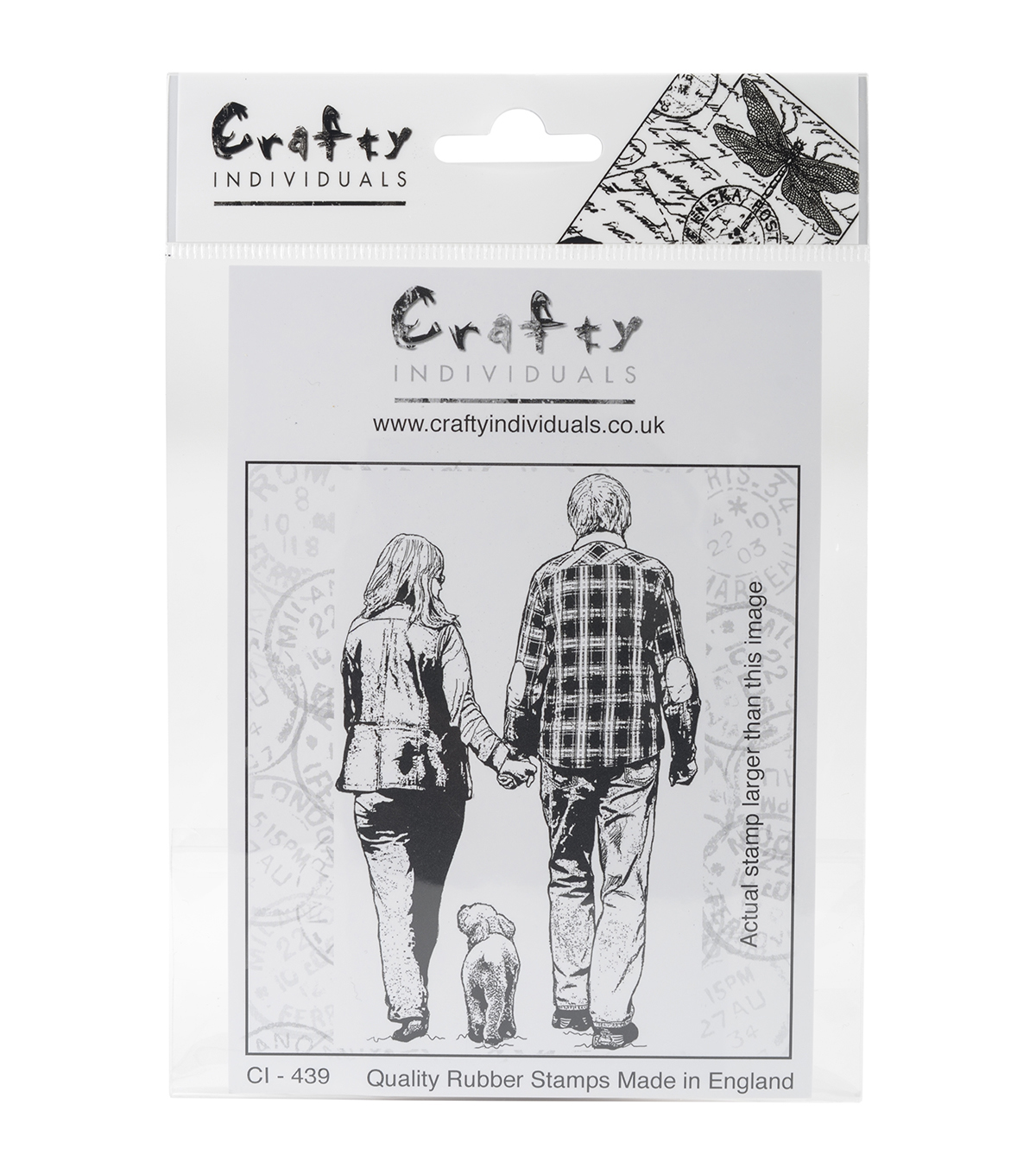 Crafty Individuals Unmounted Rubber Stamp-A Walk In The Park